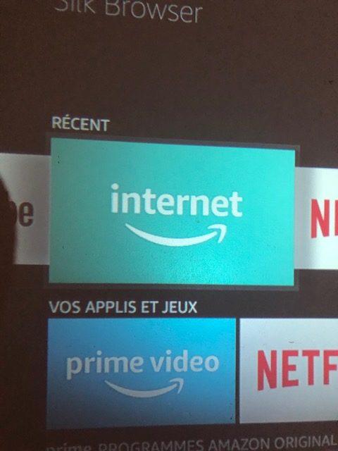 Navigateur internet Fire stick TV